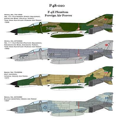 Cam Pro Decal, 1/48 Scale, P48-010, F-4E, Foreign Air Forces
