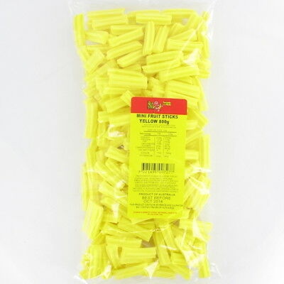 Mini Yellow Fruit Sticks 800g Pk 1