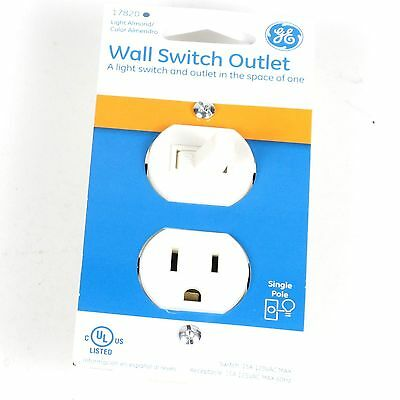 GE Wall Switch Outlet Light Almond -17820