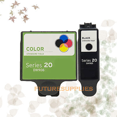 2PK Compatible Ink DW905 DW906 for Dell DW905 DW906 Series 20 P703w NO TAX!