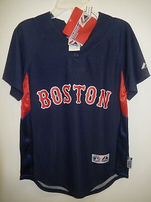 28cfc6a9d 8711 BOYS Youth Licensed Majestic BOSTON RED SOX Baseball Jersey AUTHENTIC  BLUE
