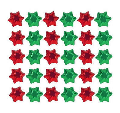 100 In Cadbury Chocolate  Christmas Stars Red And Green-Gifts Parties Promotions