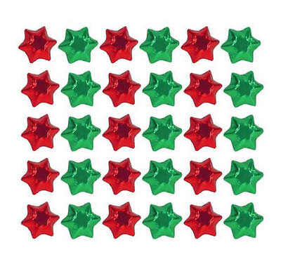 100 Red And Green Mix Chocolate Stars - Christmas Favours Parties Candy Buffet