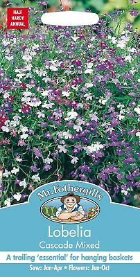 Mr Fothergills - Pictorial Packet - Flower - Lobelia Cascade Mixed - 1500 Seeds