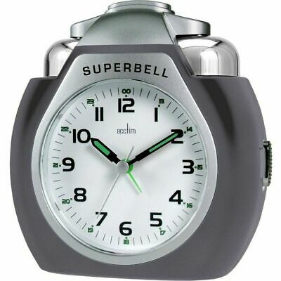 ACCTIM SUPERBELL/THUNDERBELL LARGE EXTRA LOUD ALARM CLOCKwithSNOOZE/LIGHT* NEW