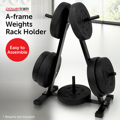 Weight Plates Storage Rack A_Frame Holder Free Weights Stand Home Gym Equipment
