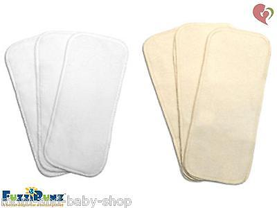 FUZZIBUNZ FUZZI BUNZ CLOTH DIAPER INSERT NAPPY MICROTERRY COTTON ORGANIC x3