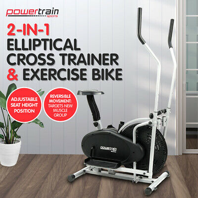 Powertrain ELLIPTICAL CROSS TRAINER EXERCISE BIKE MACHINE HOME GYM BICYCLE 2in1