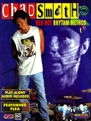 Chad Smith Red Hot Rhythm Method Drum Tutor Book and Play-Along CD Chili Peppers