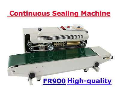 110V Continuous Auto Sealing Machine Sealer Horizontal PVC Membrane Bag Film