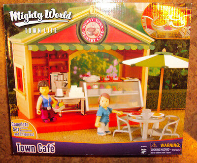 RARE Mighty World Town Cafe Set New In Box Town Life