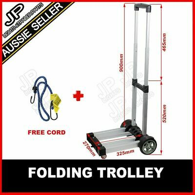 Folding Luggage Trolley Compact Suitcase Travel Cart Heavy Duty  Portable