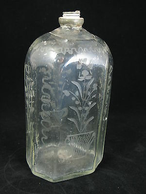 Antique Austrian Freeblown Spirit/wine Bottle & Pontil German Half-Post Method