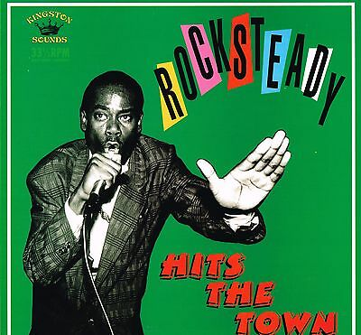 kingston sounds LP : VARIOUS-rock steady hits the town (hear)