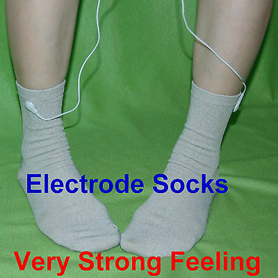 Conductive Electrode Socks Tens Machine Pain Relief Body Relax Massager Reuse