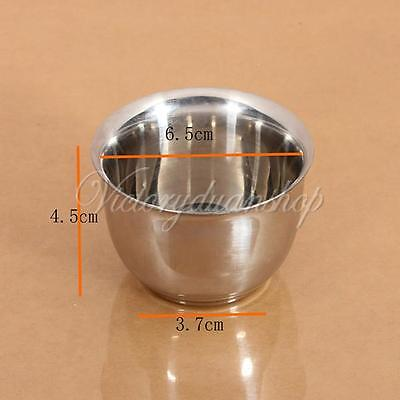 Durable Shave Soap Cup Shinning Stainless Steel Shaving Mug Bowl Heat Insulation