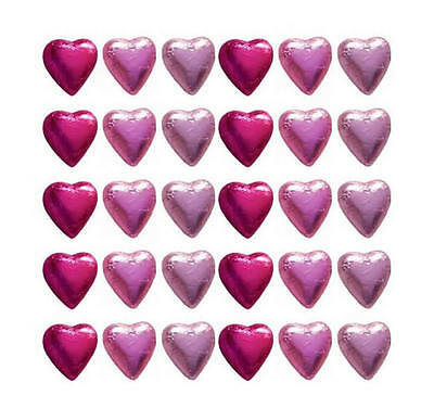 100 In Cadbury Chocolate Hearts Pink Mix-Wedding Gifts Baby Girl Shower Parties