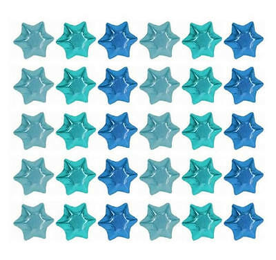 100 In Cadbury Chocolate Stars Blue Mix-Christmas Wedding Baby Shower Parties