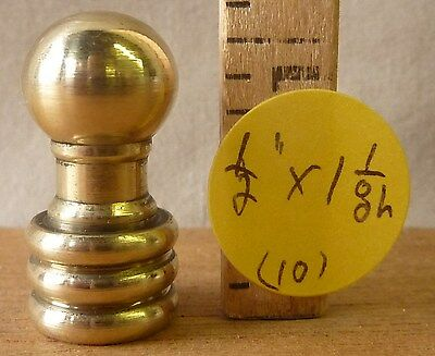 """Lamp Finial Vintage Deco Mid Century Brass Ball 1""""   (priced per each)"""