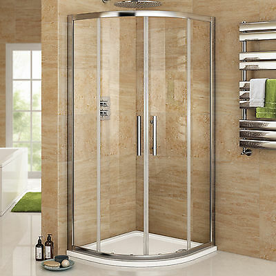 Offset Quadrant Shower Enclosure Easy Clean 8mm Glass Bathroom Cubicle + Tray