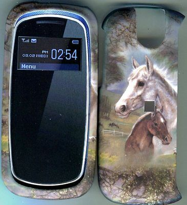 Pantech Impact P7000 at&t  Case Cover Hard Snap on Covers Horses