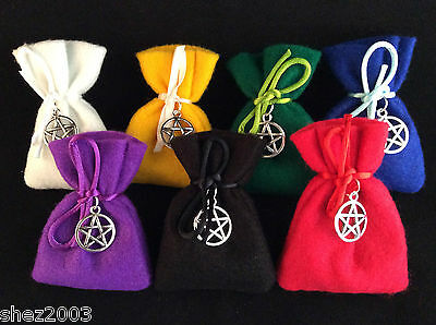 Herb Charm Spell Bag with Spell and Pentagram Charm ~ Mojo ~ 23 to Choose From