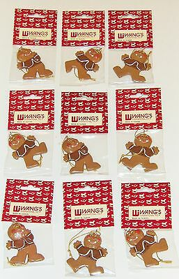 "NINE 2.5"" GINGERBREAD MAN  ORNAMENTS *   CHRISTMAS TREE CRAFT HOLIDAY DECOR"