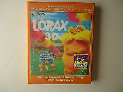 Dr. Seuss' The Lorax (Blu-ray/DVD, 2012, 3-Disc) NEW w/lenticular slipcover