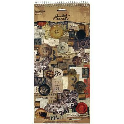 CROWDED ATTIC Idea-Ology Cardstock Salvage Stickers 7pgs 372pc by Tim Holtz