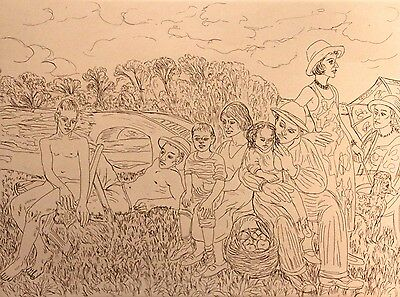 """SALVATORE ZOFREA """"Untitled 3"""" Limited Edition Etching, A/P"""