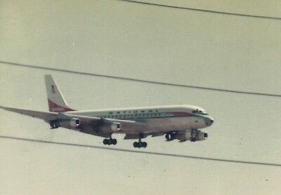 PRINT of National Airlines DC-8 landing at Los Angeles 1966
