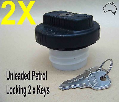 2 x NEW LOCKING Fuel Cap, Petrol Cap, Ford, Holden, Others - SEDANS