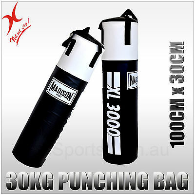 30Kg Heavy Duty Madison Boxing Punching Bag - Xl3000 - Solid Filled