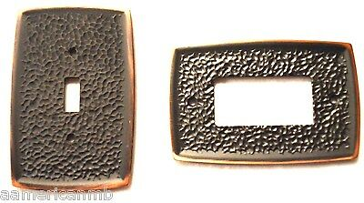 Brainerd Metal Wall Plate Single Switch Decorator Outlet Cover Hammered Bronze