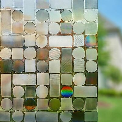 SALE 1m/2m/3m Laser Static Decorative Frosted  Etched Glass Effect Window Film
