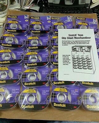 Scotch tape 20 rolls display 80 cents EACH GREAT DEAL