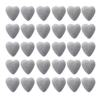 100 White Foil Milk Chocolate Hearts - Wedding Favours Parties Candy Buffet