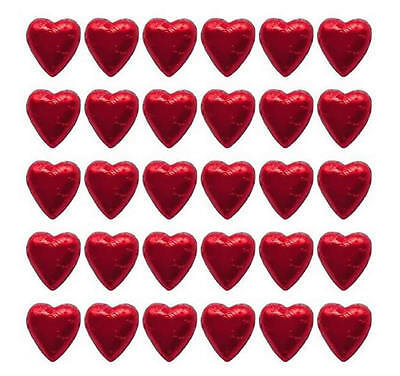 100 Red Hearts In Cadbury Chocolate-Wedding Valentine's Day Christmas Gifts