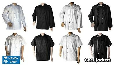 Chefs Jacket Chef White,black Coat Chefwear Unisex Press Studs Good Quality