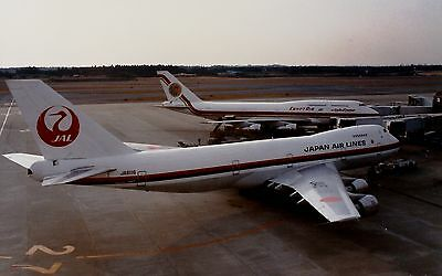 PRINT of Japan Airlines 747-200 and EgyptAir 747-300