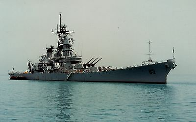 PRINT of USS Missouri (BB-63) at Anchor