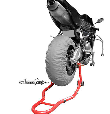 Motorcycle Sports Bike Stand Red Rear Stand Swingarm Lift Auto Bike Shop New