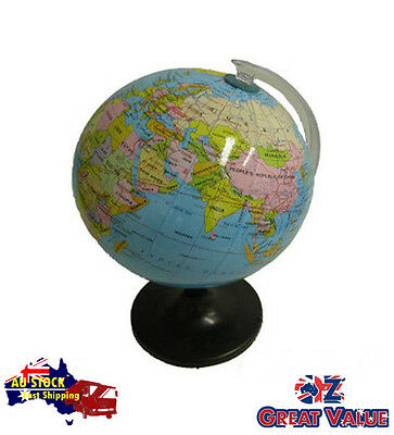14.16cm Quality Universal Globe on Stand   Spining Revolving Glossy   TOM-S601A