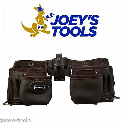 Nail Bag Tool Belt Pouch Professional apron oil tanned top grade leather 11pkt