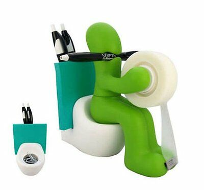 NEW RICSB  The Butt  Office Supply Station Desk Accessory Holder  Green