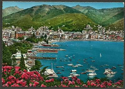 """""""Rapallo seen from Excelsior Palace"""" - Italy - Old Postcard - Ref  3-176"""