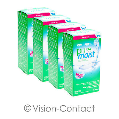 Alcon - 4x Opti-Free PureMoist / Pure Moist - 90ml / 1x Behälter