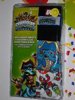 Skylanders Underwear Underpants Boys 3pk Boxer Briefs Sz 4 6 8 Swap Force NIP