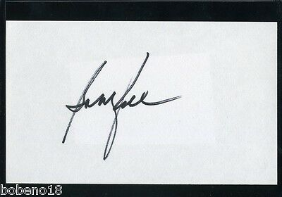 Bobby Rahal signed autographed AUTO 3x5 Index card Indy Car Driver
