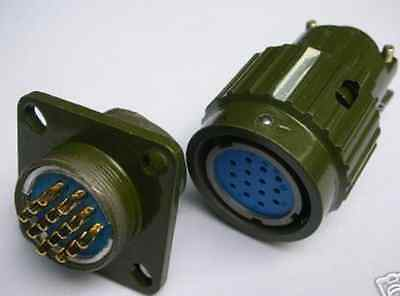 1 pcs  Military 14-Pin High Voltage Circular Connector,F14P